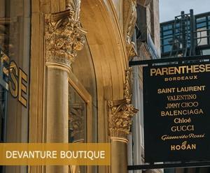 Devanture Boutique Parenthèse - Dorure à la feuille d